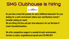 SMG Clubhouse is Hiring!!