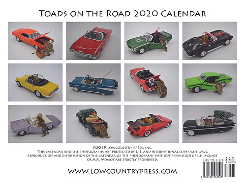 Toads On The Road 2020 Calendar