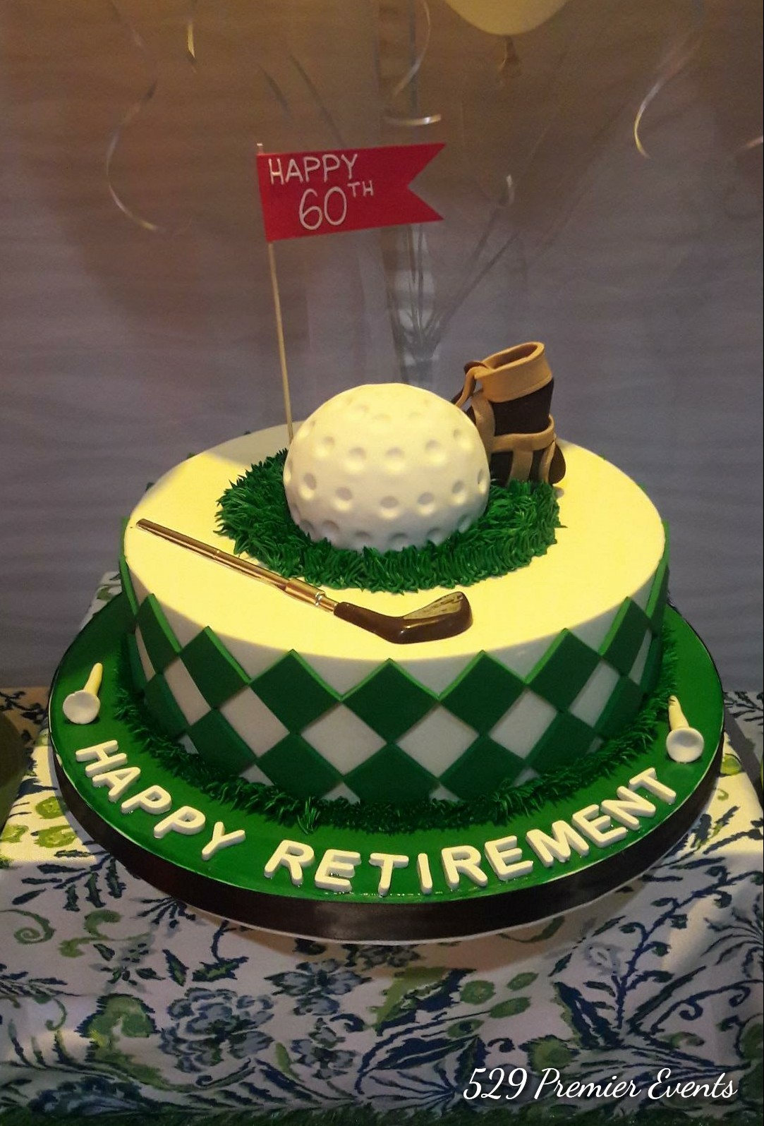 Golf Themed Retirement/Birthday Cake