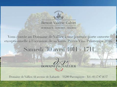 Vente privée vins - Printemps 2016