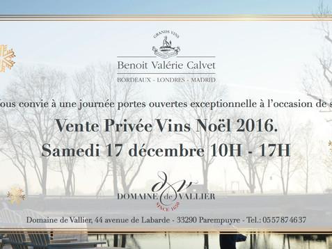 Vente Privée Vins Noël 2016