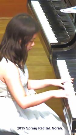 Norah playing at 2015 Spring Recital