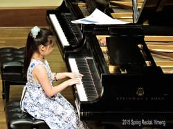 Yimeng at 2015 Spring Recital