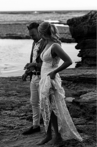 Elise & Dylan   Wearing a bespoke 'Angel' gown   Captured by Perla Photography