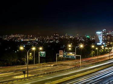 Nightfall in North Sydney