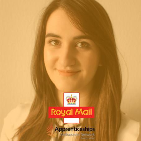 Sara McGinlay, HR Apprentice, Royal Mail