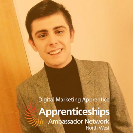 Jack Mellor, Digital Marketing Apprentice, North West Apprenticeship Ambassador Network.