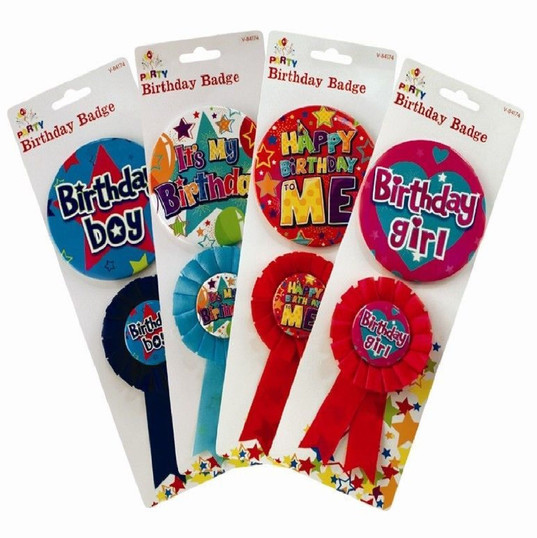 Birthday Badge and Rosette 2 Piece in pack
