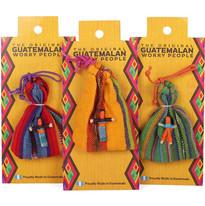 6 Handmade Worry Dolls in Bag