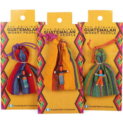 6 Handmade Worry Dolls in Bag