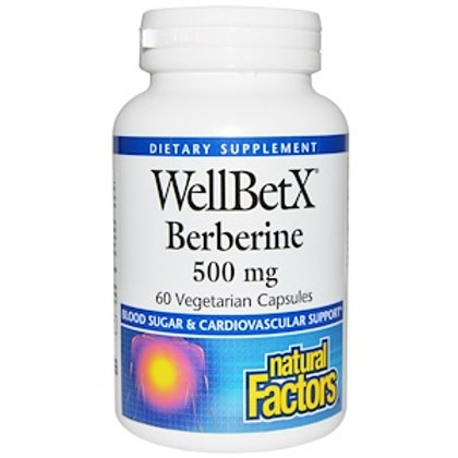 Natural Factors WellBetX Berberine 500 mg 60 Veggie Caps