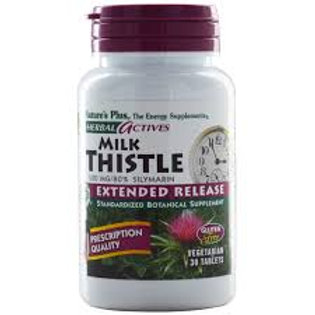 Nature's Plus Herbal Actives Milk Thistle Extended Release 500 mg 30 Tablets