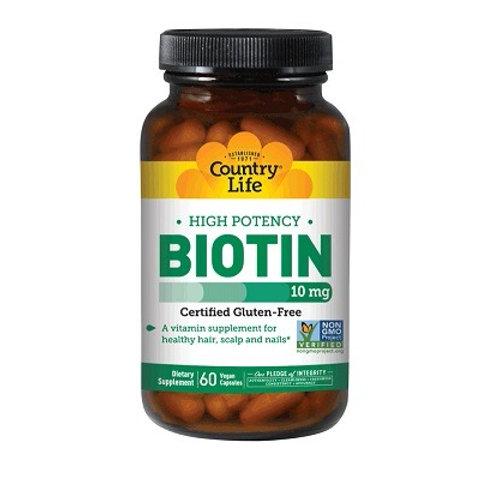 Country Life - Biotin 10 mg 60 vegan capsules