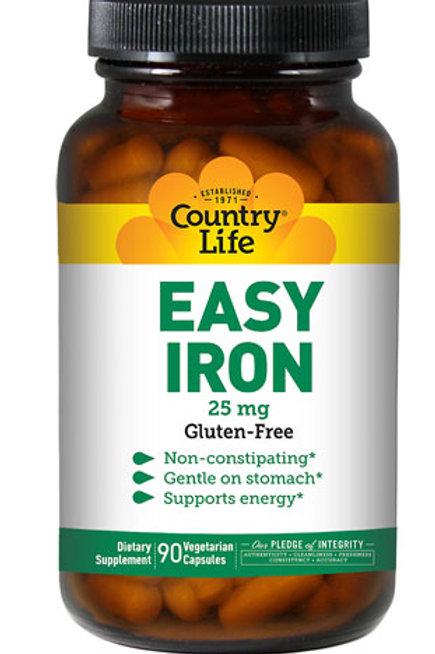 Country Life Easy Iron 25 mg 90 Vegan Capsules