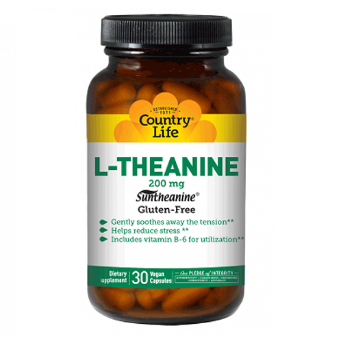 Country Life - L-Theanine 200 mg 30 vegan capsules