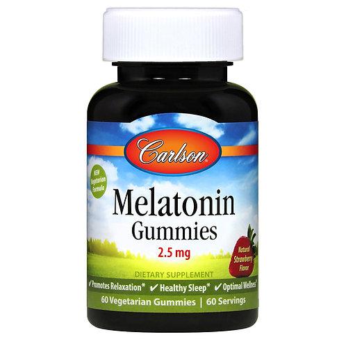 Carlson Melatonin Gummies 2.5 mg 60 Vegetarian Gummies