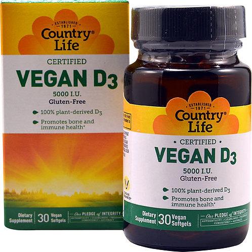Country Life Vegan D3 30 vegan softgels