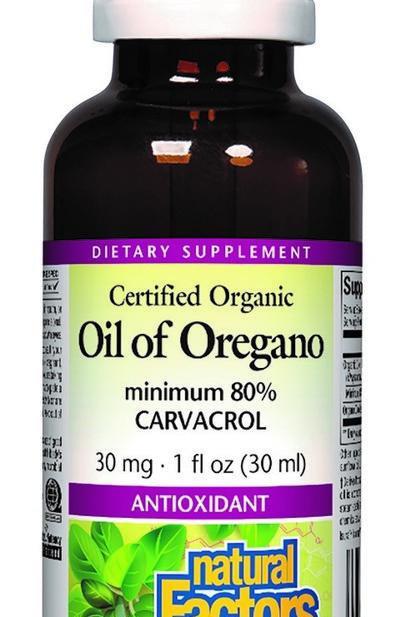 Natural Factors - Oil of Oregano Min. 80% Carvacol 1 fl oz