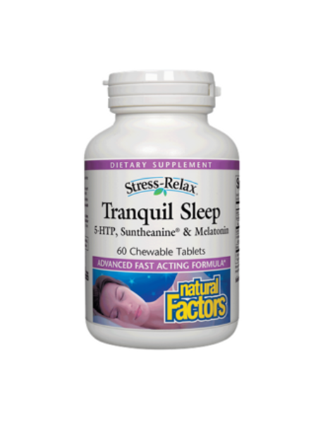 Natural Factors - Stress-Relax Tranquil Sleep 60 chewable tablets