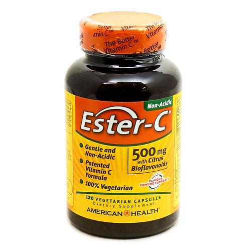 American Health Ester-C 500 mg w/ Citrus Bioflavonoids 120 veg caps