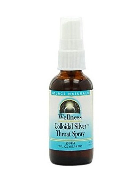 Source Naturals - Wellness Colloidal Silver Throat Spray 30 PPM 2 fl oz