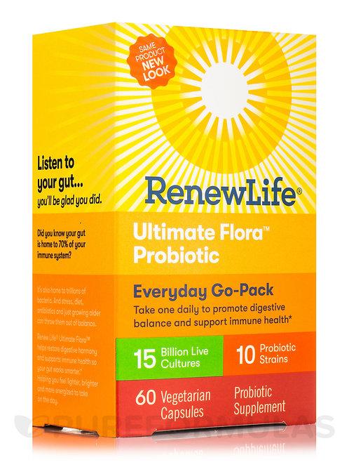 Renew Life - Ultimate Flora Everyday Go Pack 15 Billion 60 veg capsules