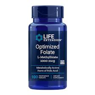Optimized Folate (L-Methylfolate) 1000 mcg, 100 vegetarian tablets