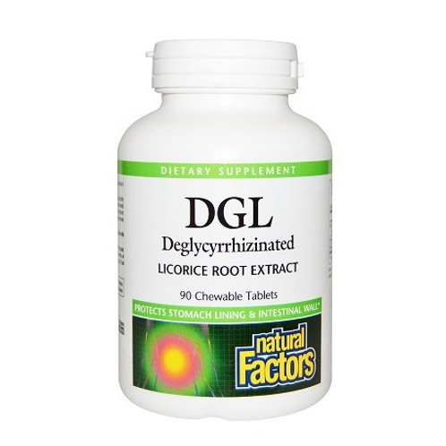 Natural factors - DGL 400 mg 90 chewable tablets