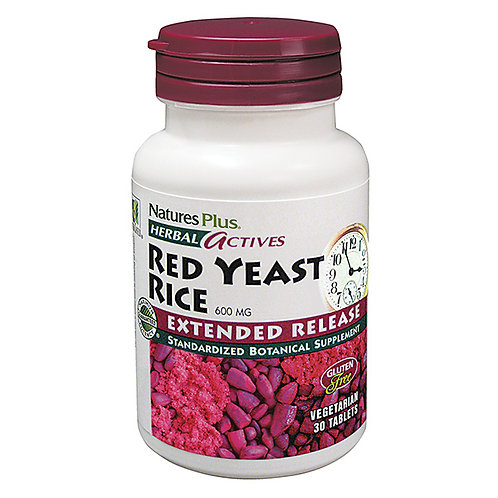 Nature's Plus - Herbal Actives Red Yeast Rice 600 mg 30 tablets