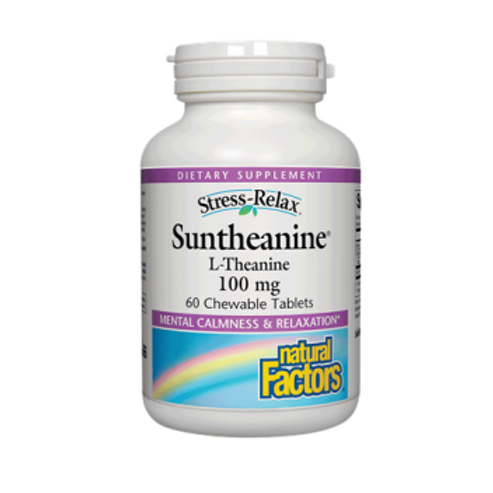 Natural Factors - Suntheanine L-Theanine 100 mg 60 chewable tablets