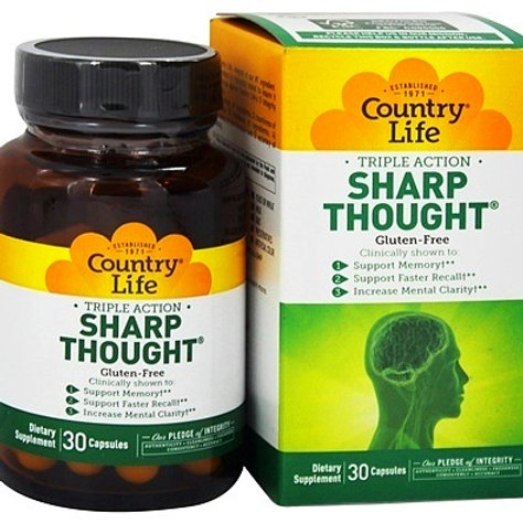 Country Life - Sharp Thought Triple Action 30 capsules