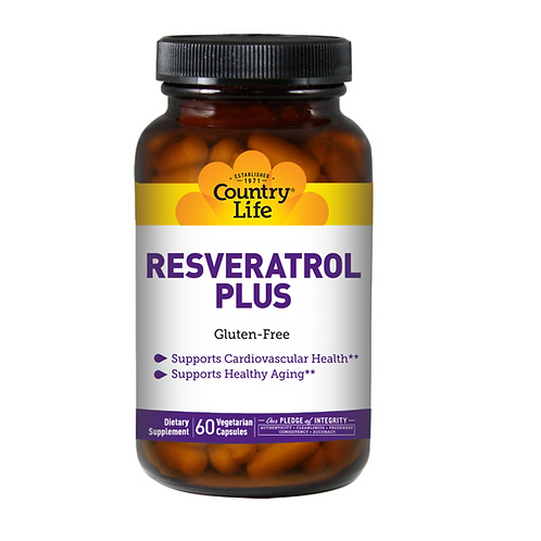Country Life - Resveratrol Plus 60 veg caps