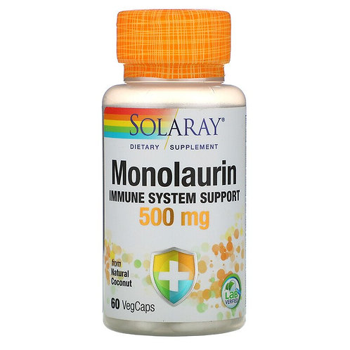 Solaray Monolaurin 500 mg 60 Veg Caps