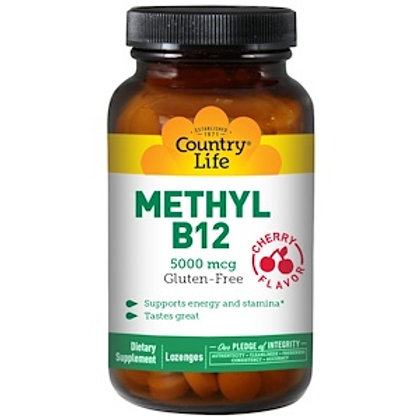 Country Life Methyl B12 5000 mcg 60 lozenges