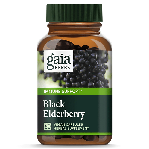 Gaia Black Elderberry 60 Vegan Capsules