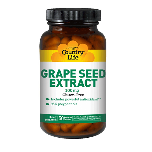 Country Life - Grape Seed Extract 100 mg 50 veg capsules