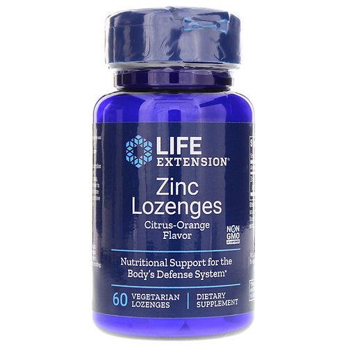 Life Extension Zinc Lozenges Citrus-Orange Flavor  60 Vegetarian Lozenges