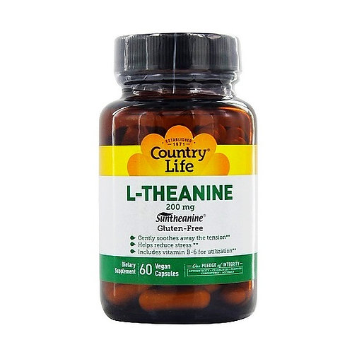 Country Life - L-Theanine 200 mg 60 vegan capsules