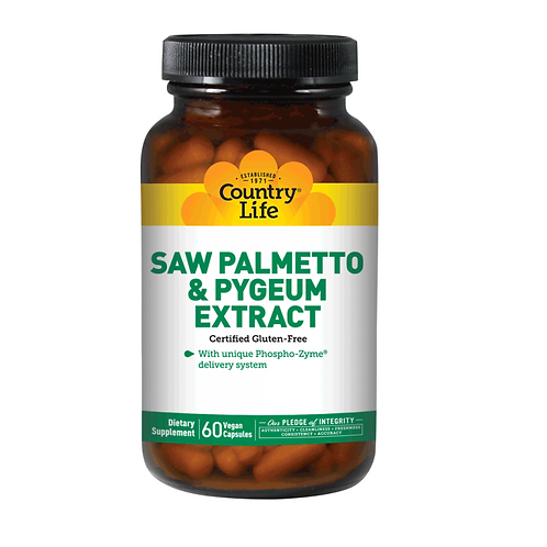 Country Life Saw Palmetto & Pygeum Extract 60 vegan capsules