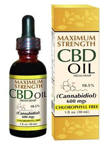 Smart Organics - Max Strength CBD Hemp Oil 600 mg 1 oz
