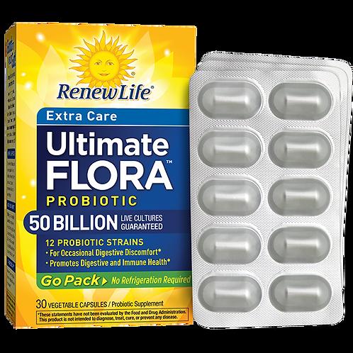 Renew Life Ultimate Flora™  Probiotic Go Pack 50 Billion 30 veg capsules