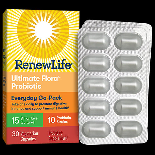 Renew Life - Ultimate Flora Everyday Go Pack 15 Billion 30 veg capsules