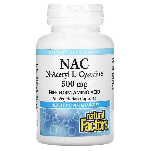 Natural Factors NAC N-Acetyl-Cysteine 500mg 90 Veg Caps