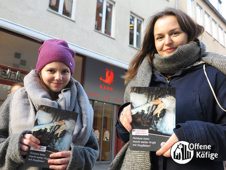 Update: Kampagne gegen den Stopfleberverkauf bei Feinkost Kahn