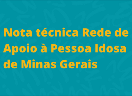 CeMAIS está na Rede de Apoio à Pessoa Idosa de Minas Gerais