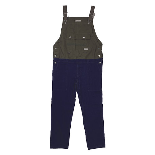 812200(WD22SS-49)  Denim switching overalls  ¥12.800