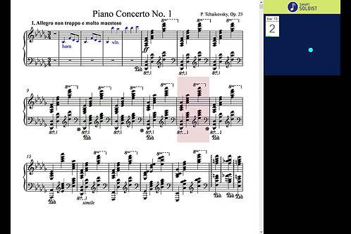 Tchaikovsky piano concerto, Mov. 1.