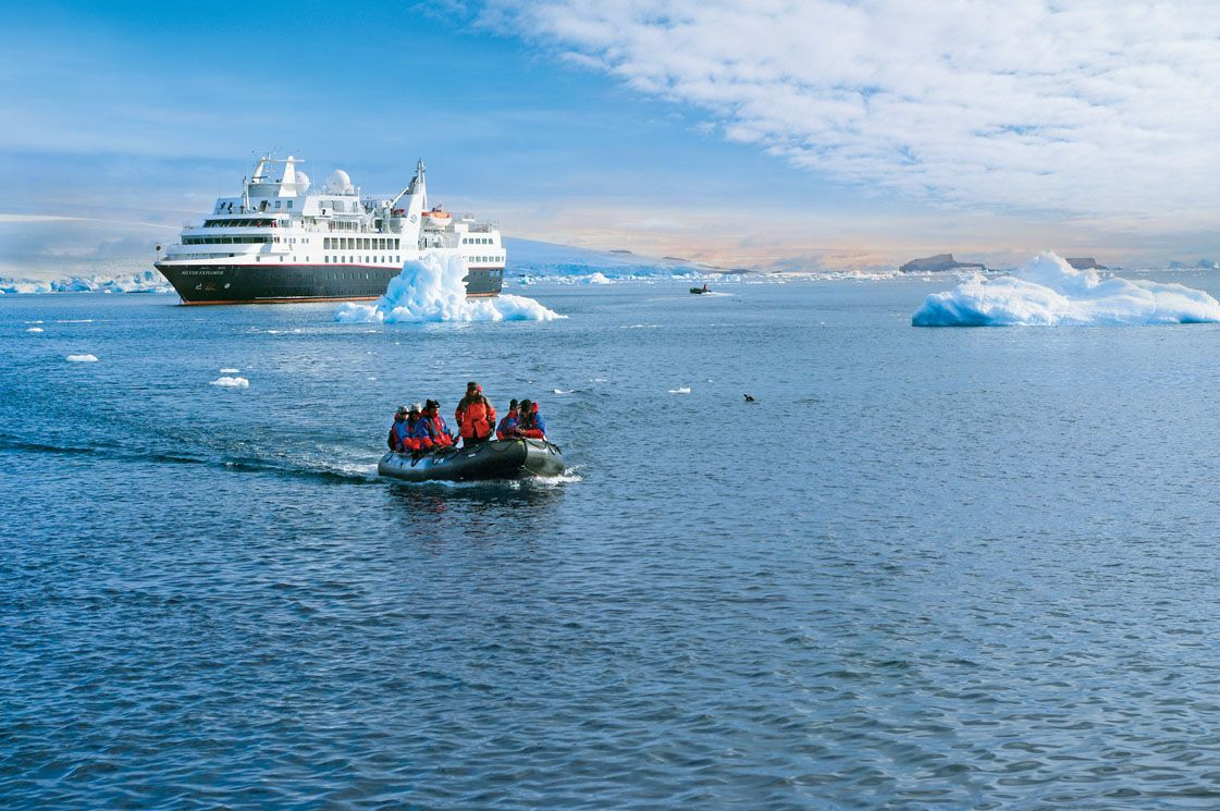 Silver Explorer at Antarctica