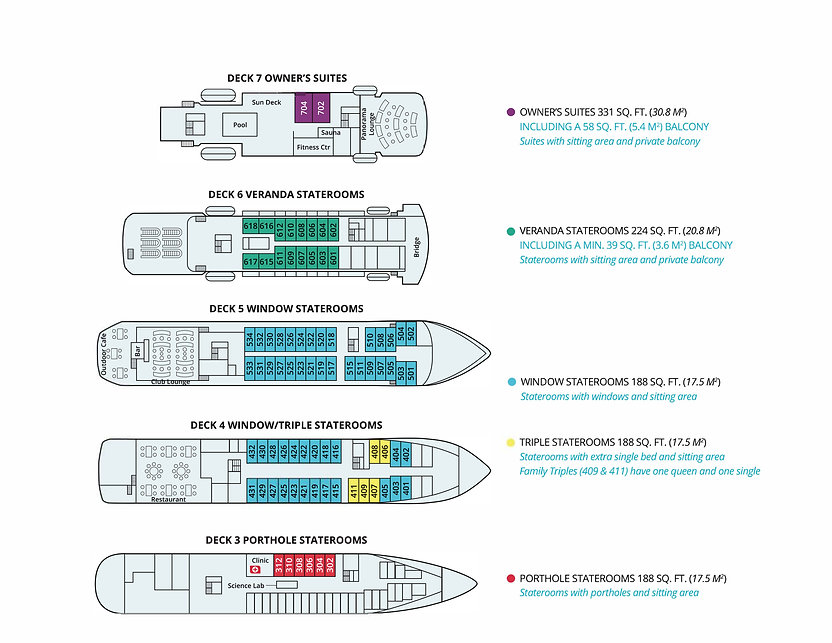 MS Seaventure Deck Plan revised Jun 2020