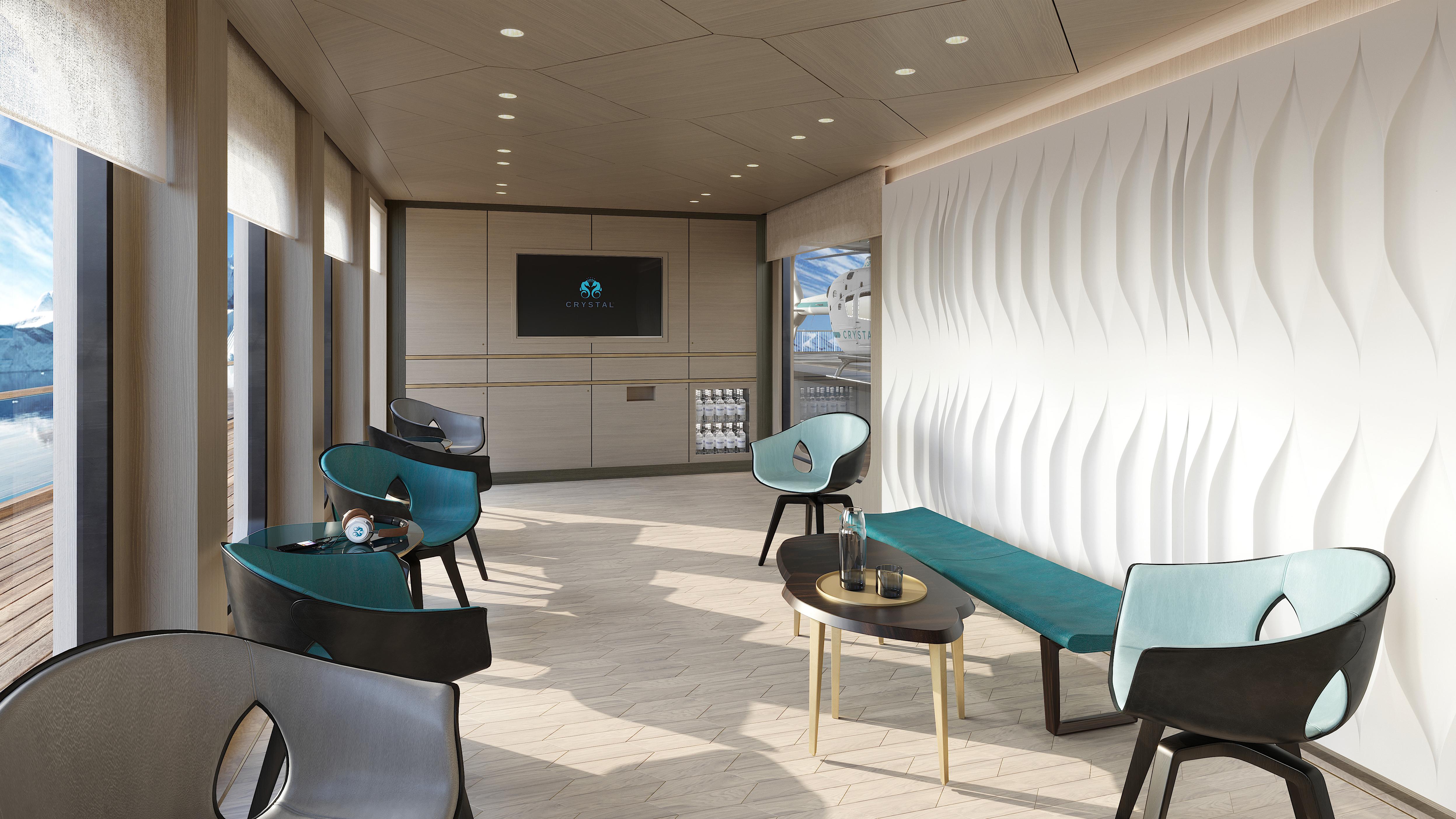 Crystal Endeavor Helicopter Lounge